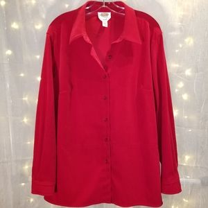 Talbots long sleeve button down top.